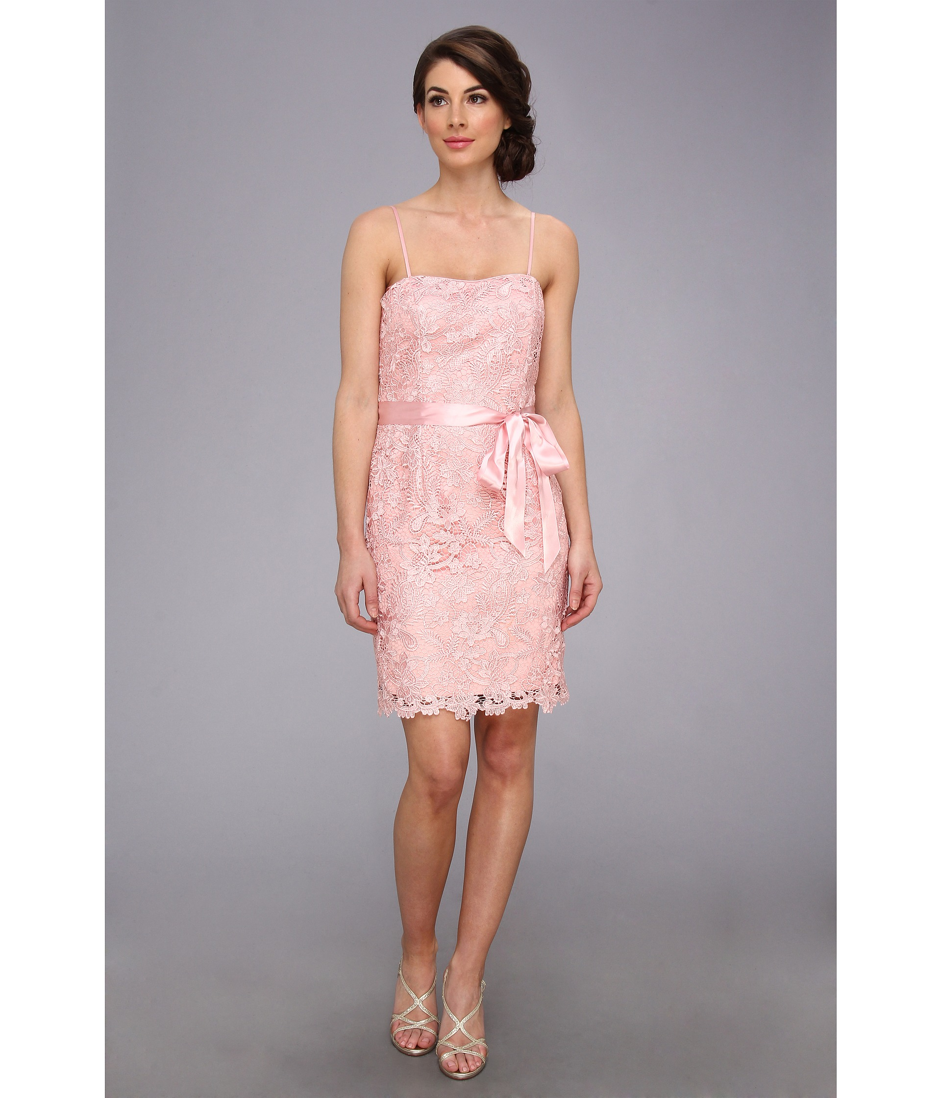 Strapless lace sheath dress - Fashion dresses