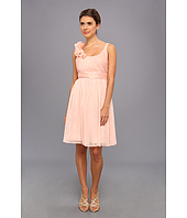Adrianna Papell - Irri Chiffon Rosette Shoulder Short Dress (Bridesmaid)