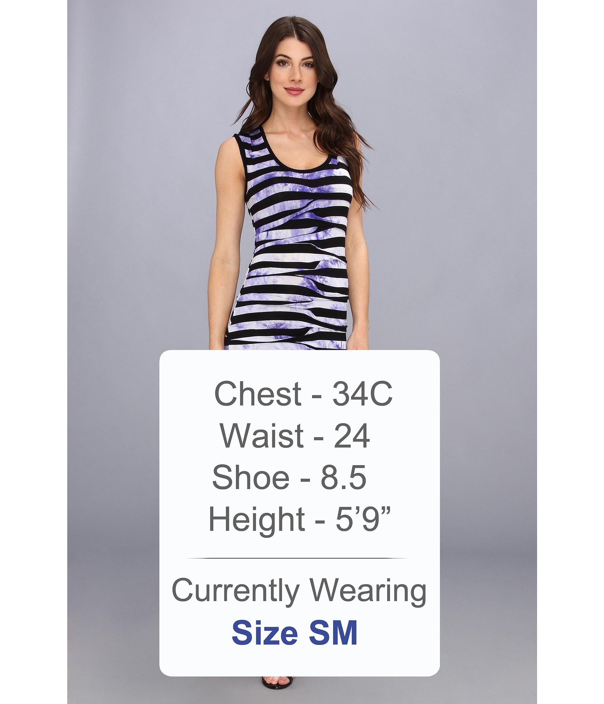 Nicole Miller Dakota Splash Dyed Stripe Dress Black/Purple
