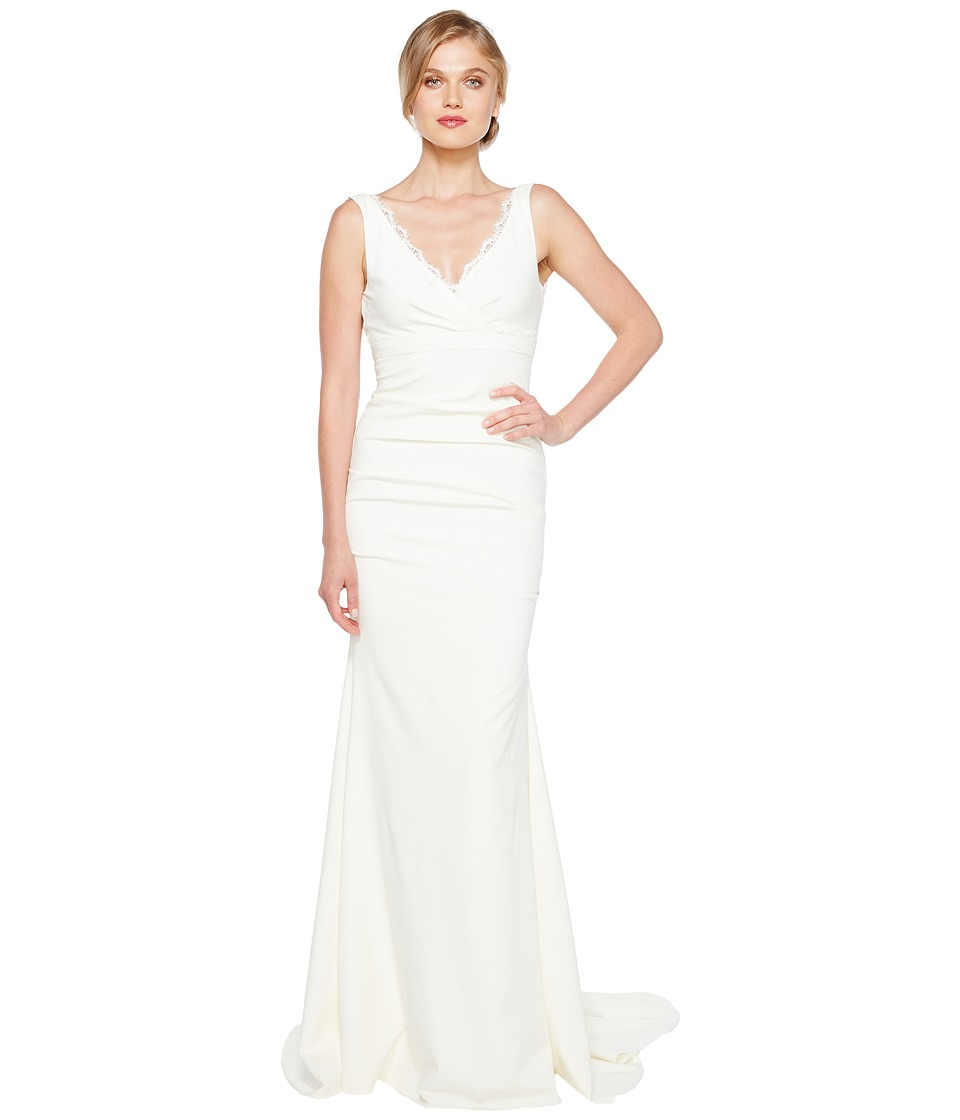 Nicole Miller - Nina Bridal Gown (Ivory) Womens Dress