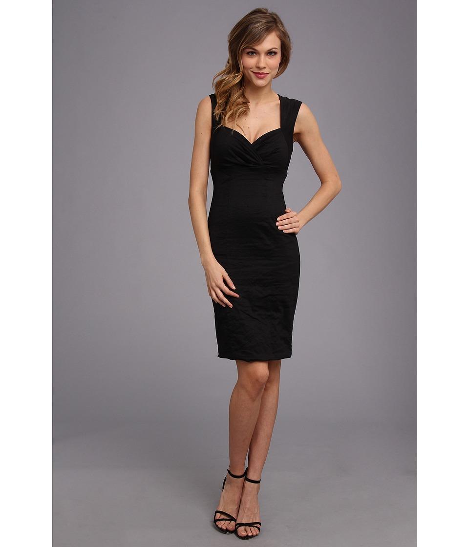 Nicole Miller - Sofia Cotton Metal Dress (Black) Womens Dress