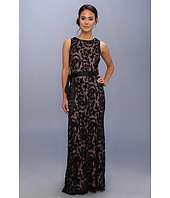 Adrianna Papell - Embroidered Lace Gown w/ Nude Lining