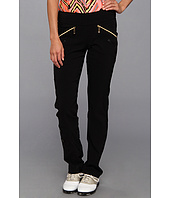 Jamie Sadock - Skinnylicious 41.5 in Pant with Control Top Panel with Gold Zippers