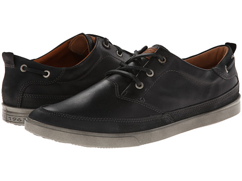 ECCO - Collin Nautical Sneaker (Black/Black Basalt/White Mist) - Footwear