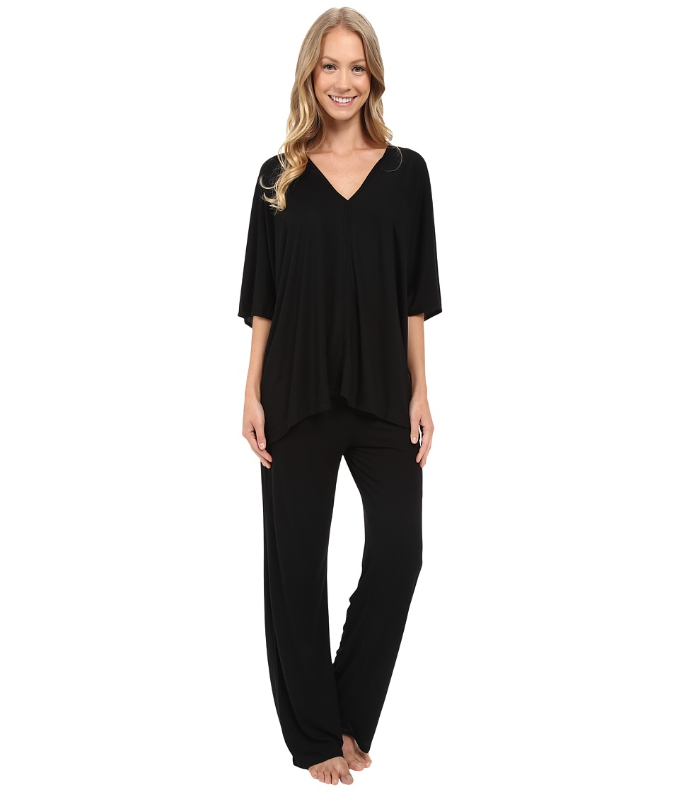 Natori - Shangri-La Tunic PJ (Black) Womens Pajama Sets