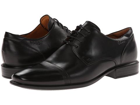 ECCO - Cairo Cap Toe Tie (Black Oxford Leather) - Footwear