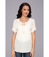 LAmade - S/S Peasant Embellished Blouse