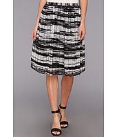 Calvin Klein - Printed Pinktuck Polyester Chiffon Skirt
