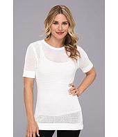 Calvin Klein - S/S Rayon Nylon Modern Stch Sweater