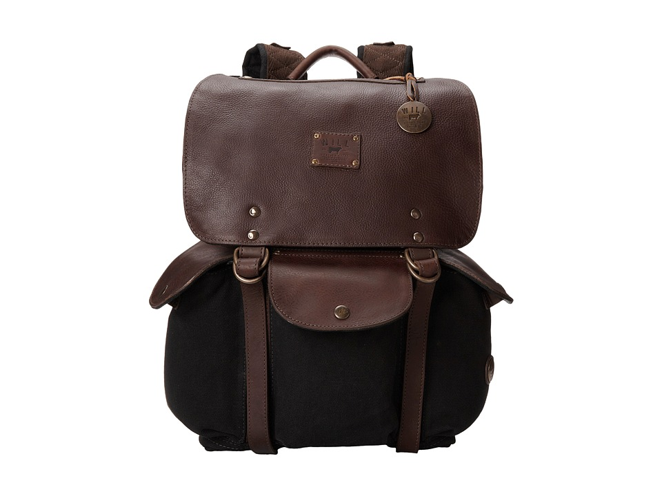Will Leather Goods - Lennon Backpack (Black/Brown) Backpack Bags