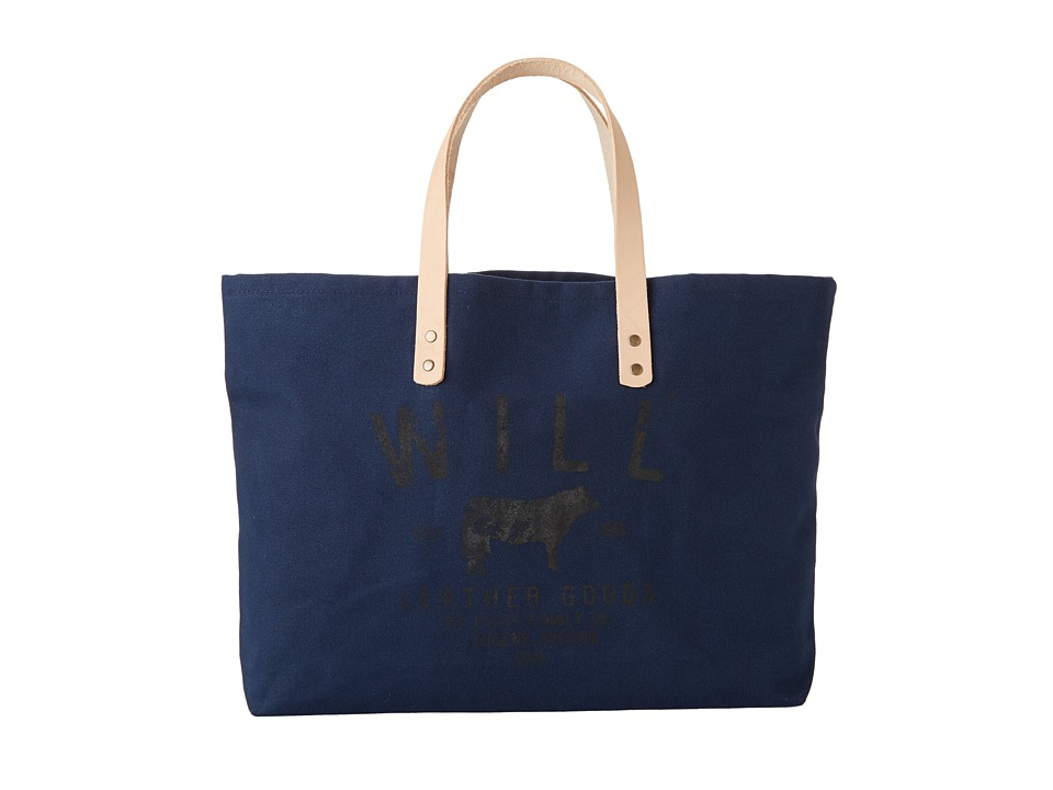 Will Leather Goods - Carry All (Navy) Satchel Handbags