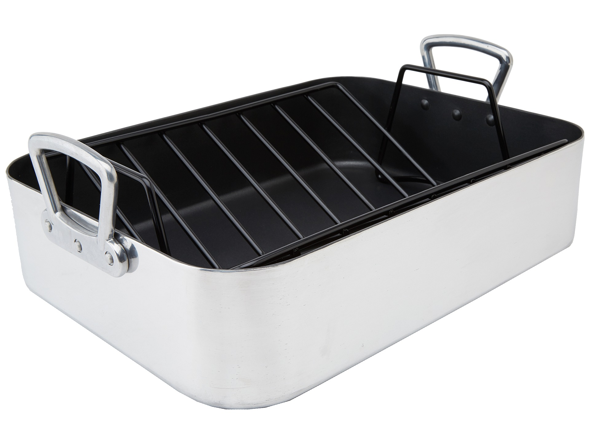 r s v p international commercial quality roasting pan with rack shipped free at zappos. Black Bedroom Furniture Sets. Home Design Ideas