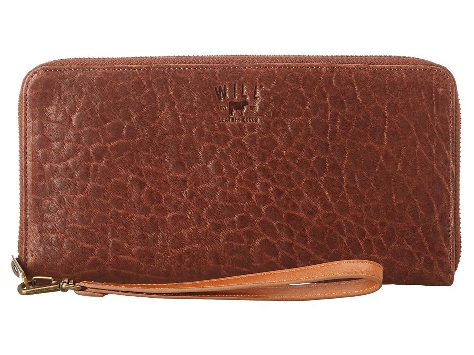 Will Leather Goods - Imogene Checkbook (Cognac) Checkbook Wallet