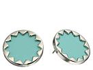 Sunburst Button Earrings