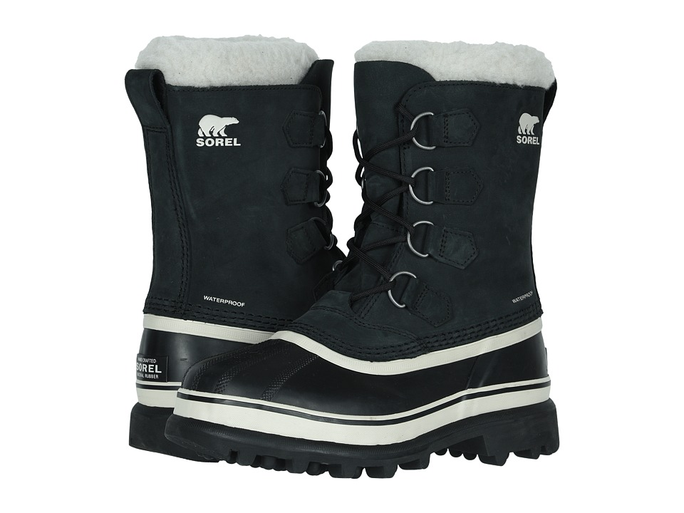 SOREL Caribou Black/Stone Womens Cold Weather Boots
