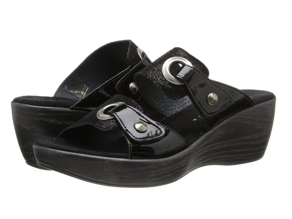 Helle Comfort Gemini Black Mosaic Womens Sandals