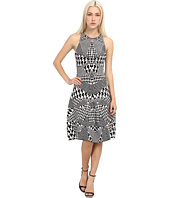McQ - Houndstooth Jacquared Flirty Dress