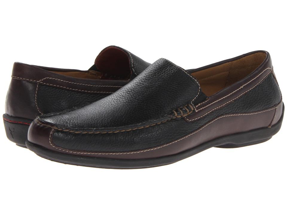 Trask - Declan (Black Elk Leather/Earth Steer Leather) Mens Slip on  Shoes