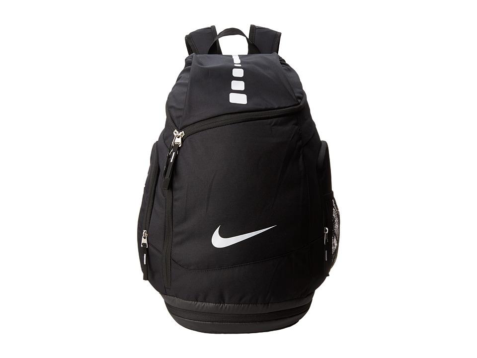 Nike - Hoops Elite Max Air Team (Black/Black/White Multi Snake) Backpack Bags