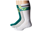 Nike - Dri-FIT Crew Sock 3-Pair Pack (Grey Heather/Mystic Green/Mystic Green/Mystic Green/White)