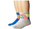 Nike Dri-FIT Crew Sock 3-Pair Pack (Grey Heather/Light Photo Blue/Hyperpunch/Light Photo Blue/Hyper)