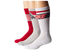 Nike - Dri-FIT Crew Sock 3-Pair Pack (Grey Heather/Hyperpunch/Dark Magnet Grey/Fuchsia Force/White)