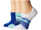 Nike - Dri-Fit Graphic No-Show 3-Pair Pack (Medium Mint/Game Royal/Game Royal/White/White)