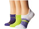 Nike - Dri-Fit Graphic No-Show 3-Pair Pack (Purple Haze/(Volt)/Volt/(White)/Purple Haze)