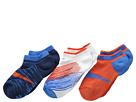 Nike Graphic Cotton Cushion 3 Pair Pack (Little Kid/Big Kid) (Light Photo Blue/Midnight Navy/Team Orange/Team Orange)