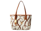 LAUREN Ralph Lauren - Caldwell Belting Shopper (Cream Belting/Lauren Tan)