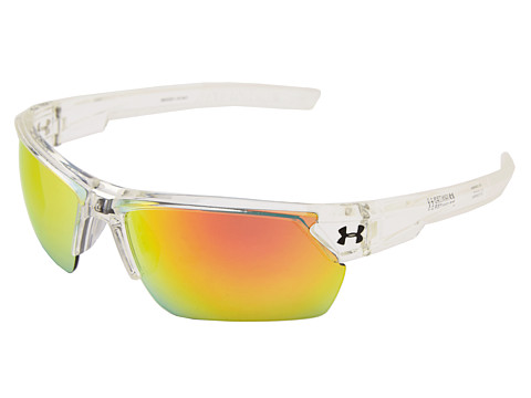 Under Armour UA Igniter 2.0 - Shiny Crystal Clear Frame w/ Frosted Clear Rubber/Gray w/ Orange