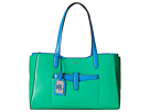 LAUREN Ralph Lauren - Davenport Shopper (Peppermint/French Blue)