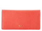 LAUREN Ralph Lauren - Tate Slim Wallet (Punch/Raspberry)
