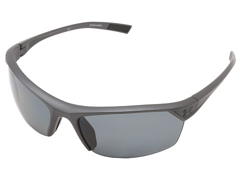 Under Armour UA Zone 2.0 Storm - Satin Carbon Frame W/ Black Rubber / Gray Polarized Lens
