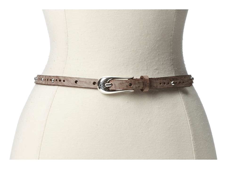 Brighton - Twiggy 1/2 Belt (Brown) Womens Belts
