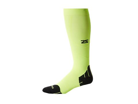 Zensah Tech+ Compression Socks - Neon Yellow