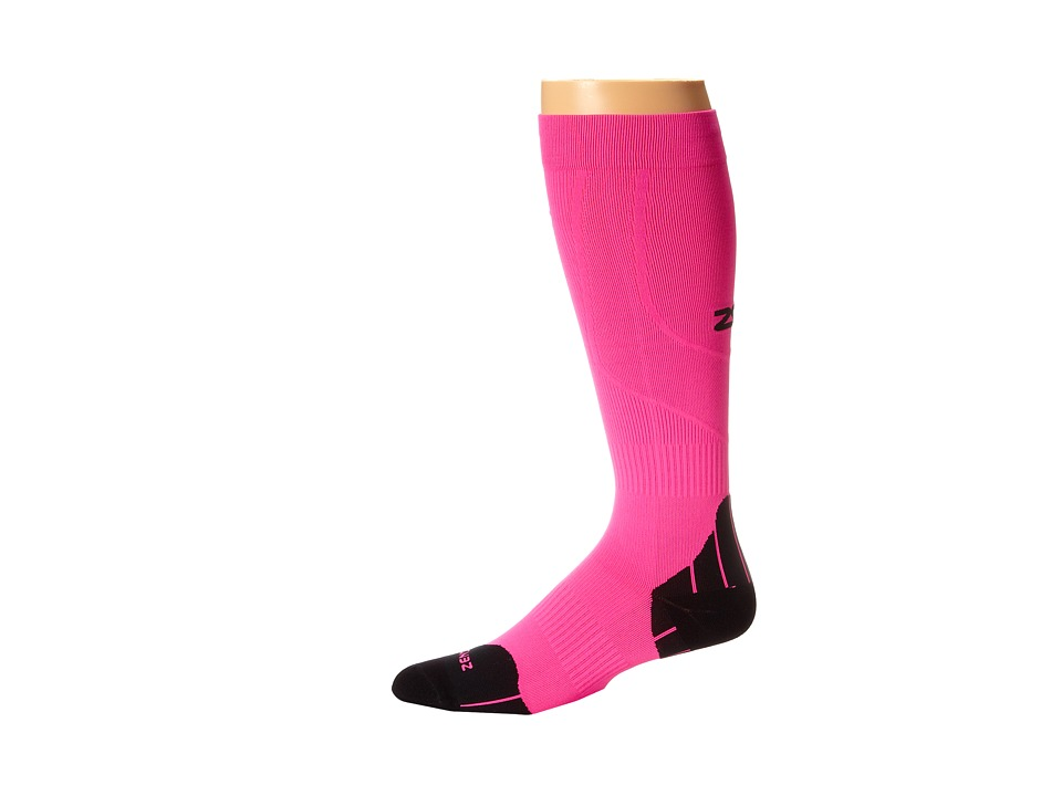 Zensah Tech+ Compression Socks Neon Green Running Socks 8319250