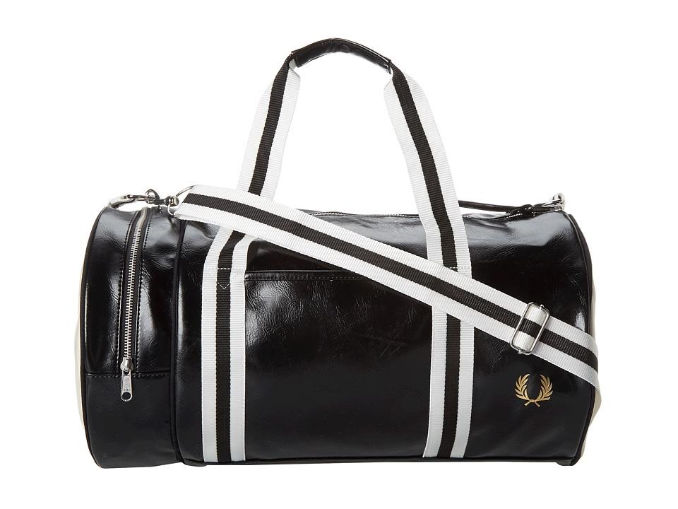 Fred Perry Classic Barrel Bag (Black) Duffel Bags