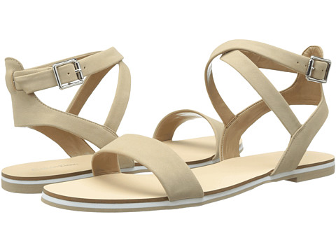 Shop Calvin Klein online and buy Calvin Klein Carolina Desert Nubuck Shoes - Calvin Klein - Carolina (Desert Nubuck) - Footwear: The casual Calvin Klein 'Carolina' sandal makes summer style easy. ; Man-made patent or metallic leather upper. ; Lightly padded footbed. ; Rubber sole. Measurements: ; Heel Height: 1 4 in ; Weight: 4 oz ; Product measurements were taken using size 6.5, width M. Please note that measurements may vary by size.
