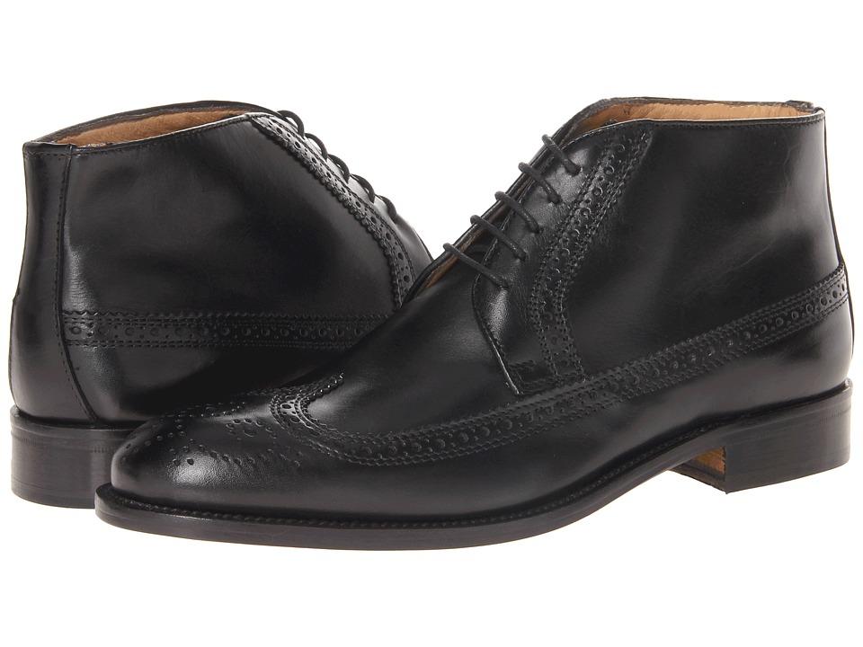 Massimo Matteo - 5-Eye Chukka Wing (Black) Mens Lace-up Boots