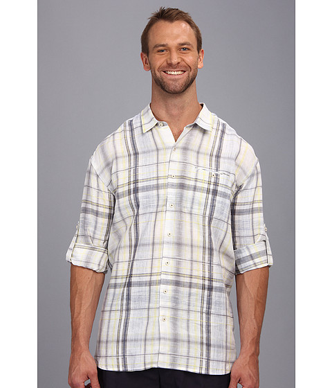 Tommy bahama big tall big tall space time plaid l s button for Big and tall button up shirts