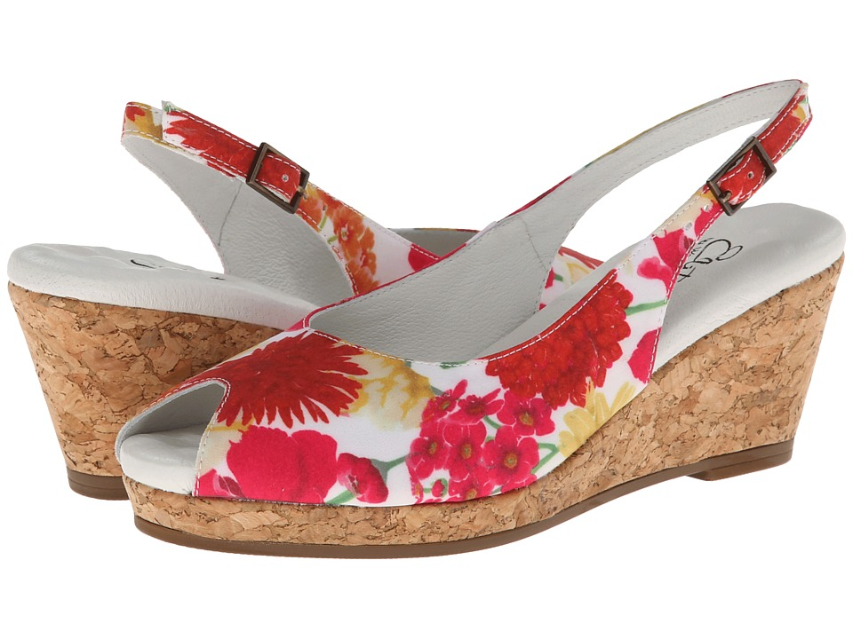 Walking Cradles Amore (Bright Floral) Women's Shoes, wide width womens sandals, wide fitting sandal, WW