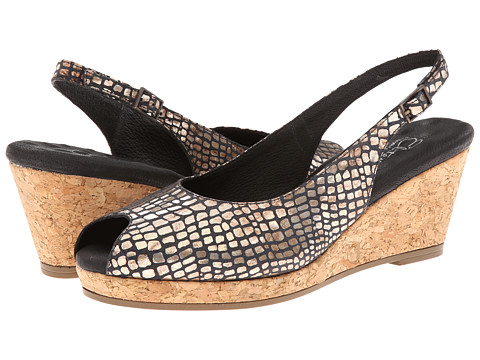 Walking Cradles - Amore (Black Croc Print) - Footwear, wide width womens sandals, wide fitting sandal, cute, WW