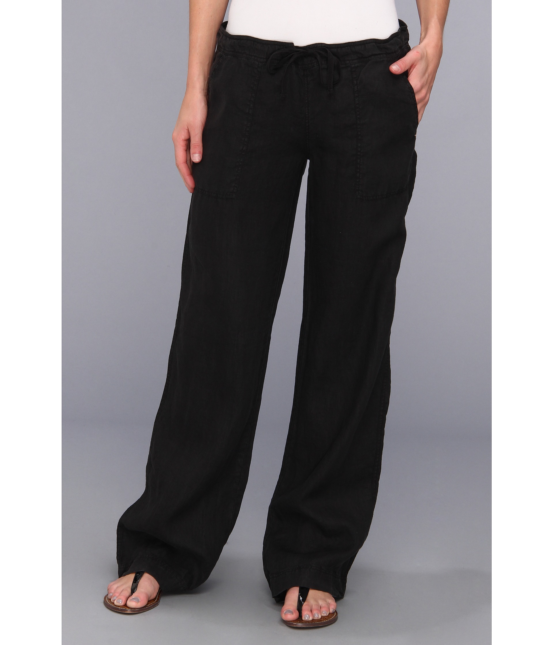 Innovative LA GOLD Women39s LinenCotton Drawstring Pants  13752862  Overstock