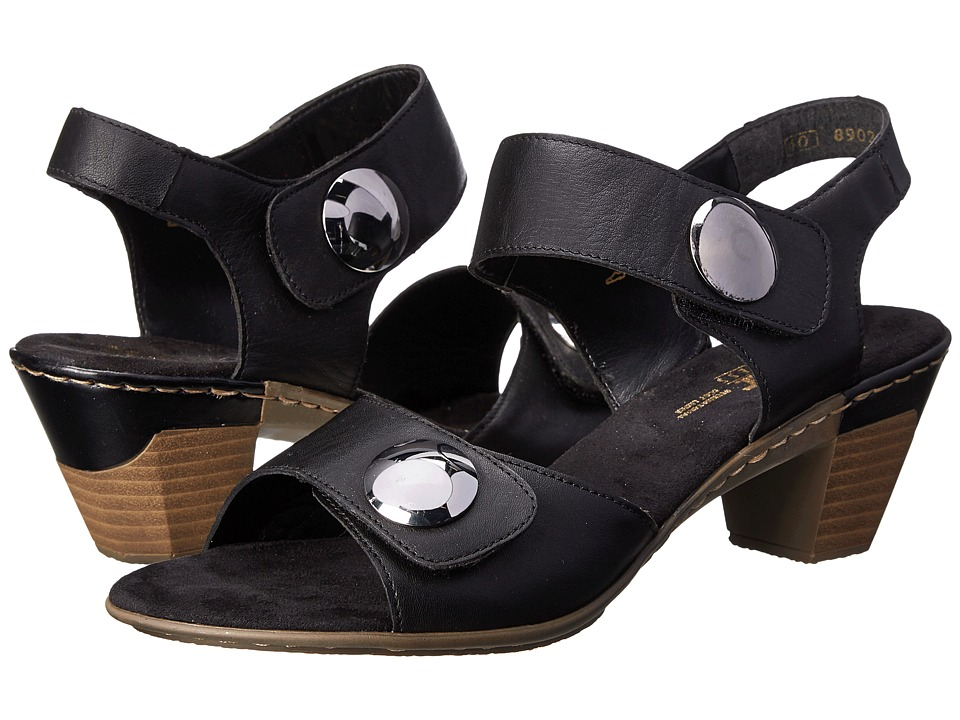 Rieker - 67369 Aileen 69 (Black) Women's Sandals