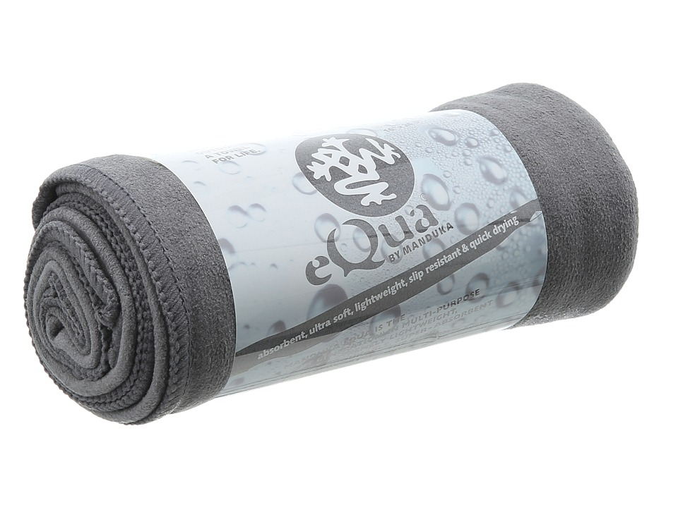 Manduka eQua Hand Towel Dark Grey Athletic Sports Equipment