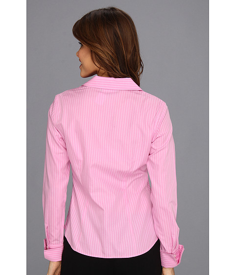 Jones New York No Iron Easy Care Fitted Shirt New Pink