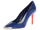 Alexander McQueen - Pointy Pump 85mm (Shiny Blue) - Footwear
