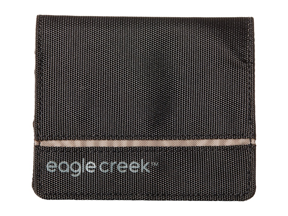 Eagle Creek - RFID Bi-Fold Wallet Vertical (Black) Bags