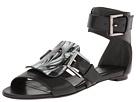 Alexander McQueen - Resin Buckle Flat Sandal (Black) - Footwear